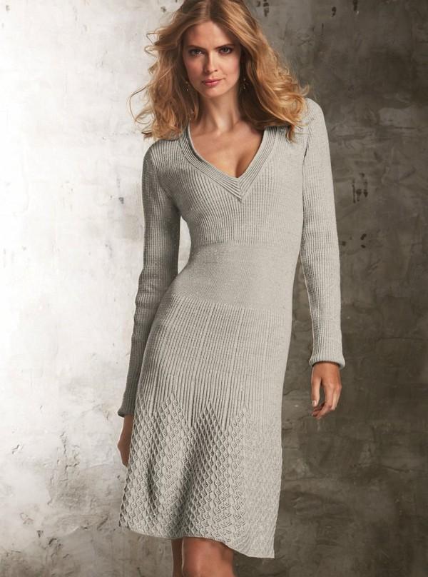 Смотреть вязание платья