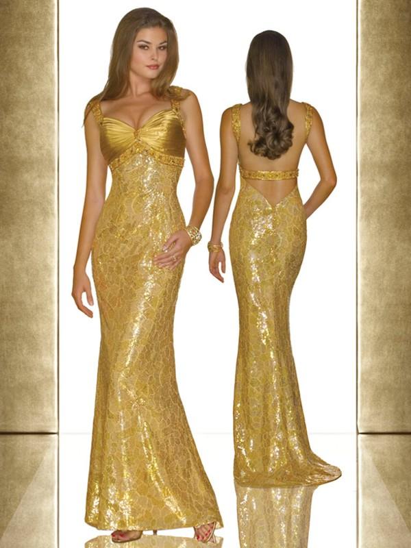 Вечернее платье золотое купить москва